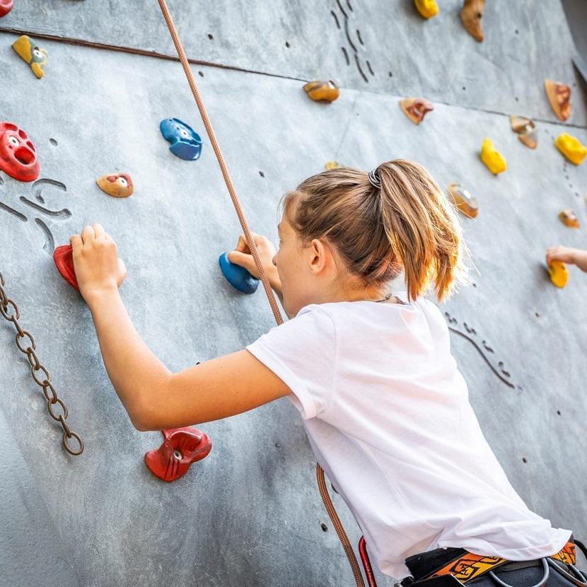 Sporthotel Tauernhofs outdoor climbing wall