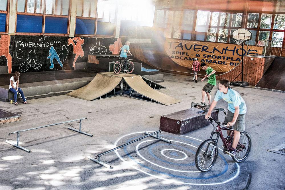 Funpark Skatehalle Familienurlaub Flachau