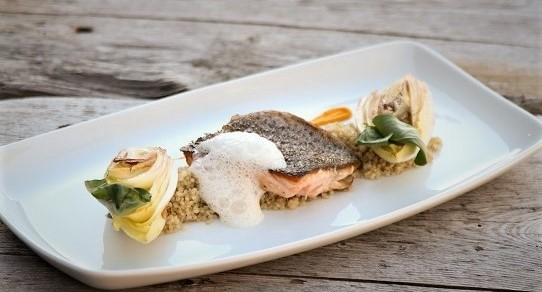 Abendessen im Hotel in Flachau Seesaibling Lachsforelle