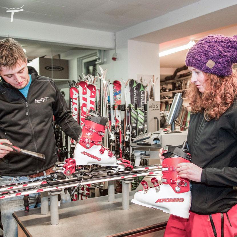 Flachau Tauernhof sportshop ski-depot
