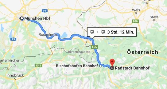 Bahnanreise München-2 Hotel in Flachau