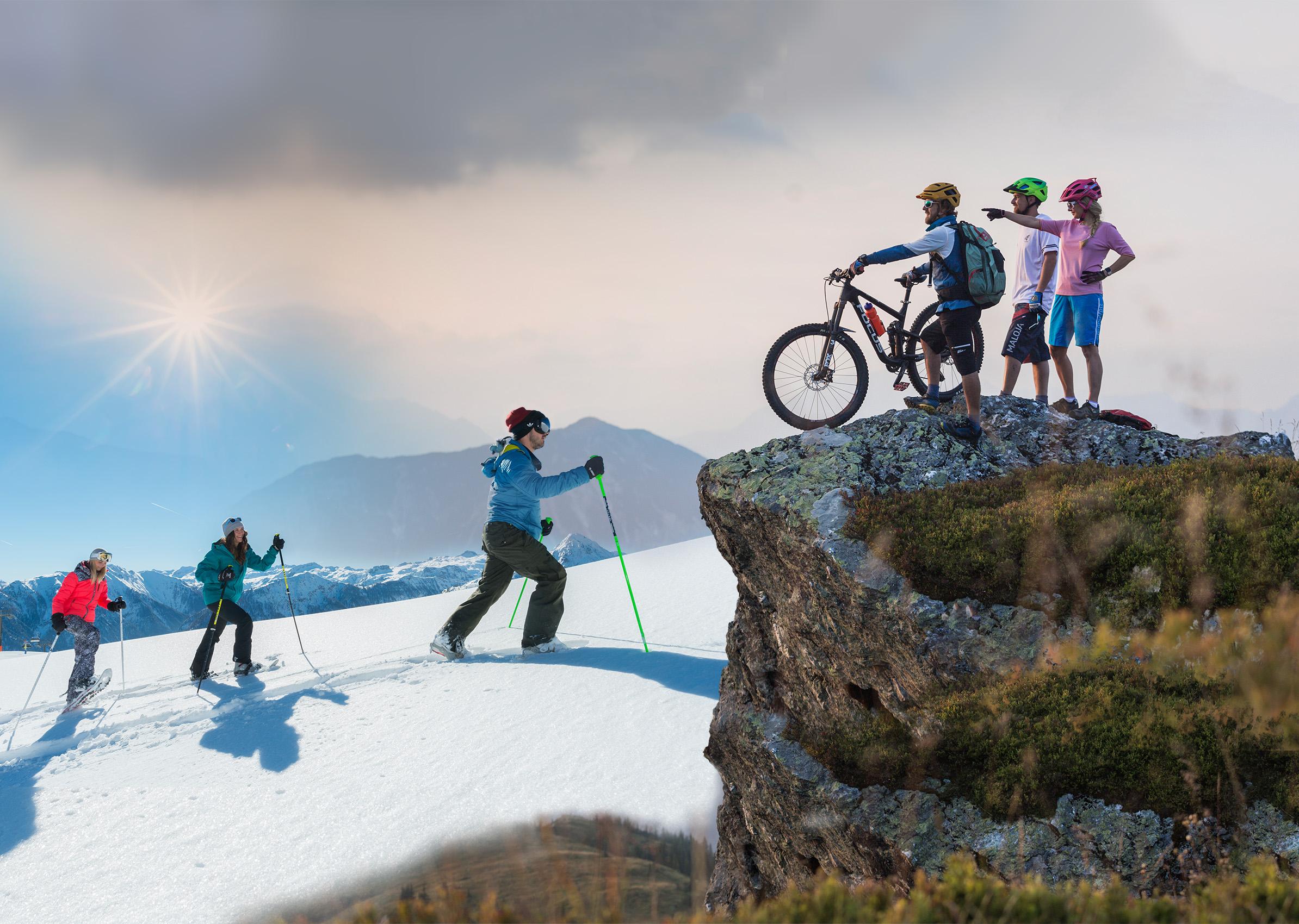 Bike and ski in flachau
