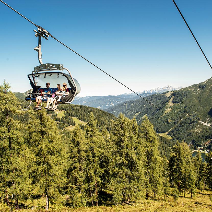Bergbahn Flachau Ski amadé Sommer Hotel Tauernhof Wandern