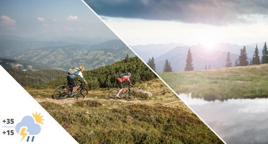 Sporthotel Tauernhof biking in August