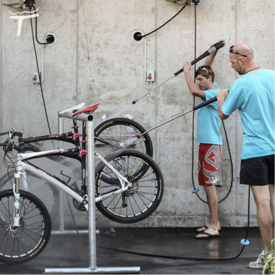 bike-techniktraining, Bike Waschanlage im Hotel