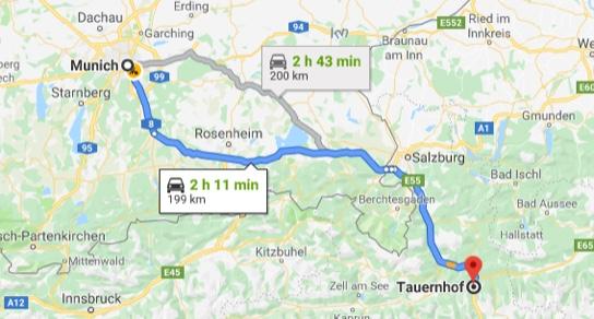 Anreise Norden Hotel in Flachau