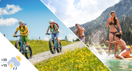 Hiking and swimming Bikehotel Flachau